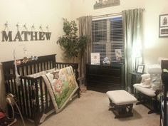 Baby boy jungle themed nursery