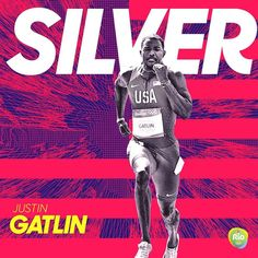 6923e8c5584 Justin Gatlin takes home silver in the 100m Final for  teamusa!  Rio2016