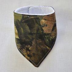 Baby  Bandana Dribble Bib Handmade Hunter Leaf Camo Print ebay $6.00