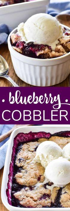 Blueberry Cobbler – Lemon Tree Dwelling Easy No Bake Desserts, Best Dessert Recipes, Desert Recipes, Fruit Recipes, Recipes Dinner, Baking Recipes, Yummy Recipes, Breakfast Recipes, Recipies