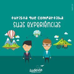 Turista que compartilha suas experiências  Viagem | Viajar | Travel | Frases de Viagem http://blog.ludevie.com.br
