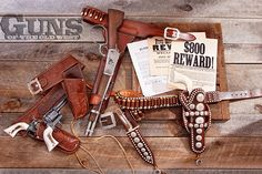 Western leather gun holsters