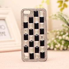 Iphone5s, Squares, Cell Phone Accessories, Phone Cases, Black And White, Fit, Cover, Glass, Blanco Y Negro