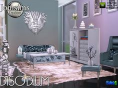 The Sims Resource: Disodium bedroom by jomsims • Sims 4 Downloads