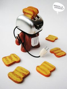 Toasterboy - custom munny by erwin cahyono, via Behance