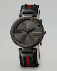Interlocking G PVD Watch, Black by Gucci at Neiman Marcus.
