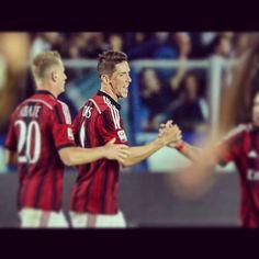 first goal in AC Milan