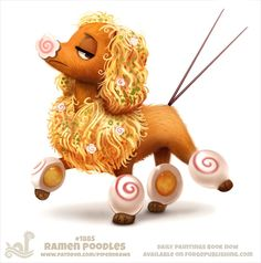 Daily Paint #1885 Ramen Poodles