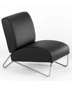 Easy Rider Black Vinyl Chair