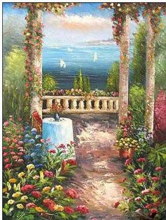 Magic Of The Mediterranean~ Painting In Oil