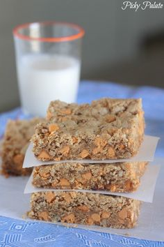 Butterscotch Oatmeal Brown Butter Cookie Bars from @Jenny Flake, Picky Palate