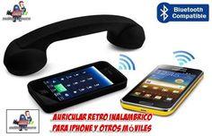 Auricular retro para iPhone y otros teléfonos móviles. Auricular bluetooth sin cables para iPhone. Auricular inalambrico con forma de teléfono antiguo para iPhone. http://www.yougamebay.com/es/product/brazalete-neopreno-impermeable-para-telefono-movil-iphone-4g