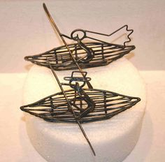 Kayak Wedding Cake Toppers by darylsrockwireworks! Awesome for adventure weddings!