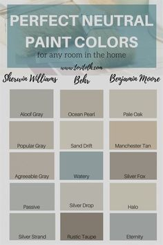 Home Decor Contemporary 48 Ideas living room paint color ideas neutral colour palettes.Home Decor Contemporary 48 Ideas living room paint color ideas neutral colour palettes Paint Colors For Home, House Colors, Rustic Paint Colors, Sand Color Paint, Taupe Paint Colors, Coastal Paint Colors, Farmhouse Paint Colors, Watery Paint Color, Wall Paint Colors
