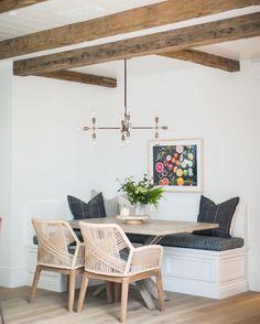 | a nice little spot for breakfast | #kitchennook #beachhouse #familyhome @apparatusstudio : @ryangarvin @angelahardison
