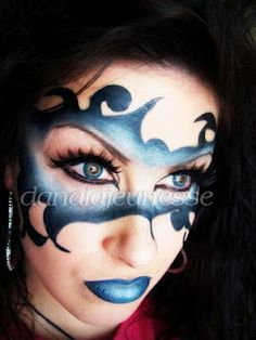 In this video, we learn how to apply a Mardi Gras devious mask with makeup. Jester Makeup, Mask Makeup, Costume Makeup, Masquerade Makeup, Halloween Masquerade, Halloween Makeup, Masquerade Ball, Fantasy Hair, Fantasy Makeup