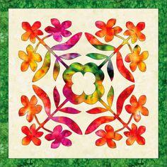 BARBARA BIERAUGEL DESIGNS: New Plumeria Hawaiian Applique pattern