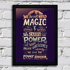 Quadro Harry Potter - We do not need.