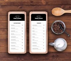 The Porc Bistro 620x537 20 Impressive Restaurant Menu Designs