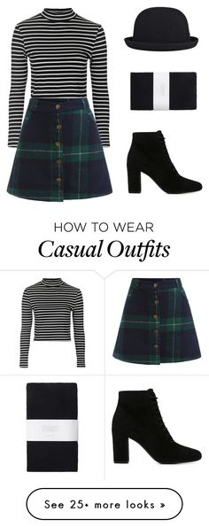 """""""Casual #37"""" by chimerical4 on Polyvore featuring Topshop, Yves Saint Laurent, Toast, kangol, women's clothing, women, female, woman, misses and juniors"""