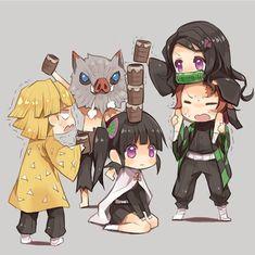 Kimetsu no Yaiba (Demon Slayer) Image - Zerochan Anime Image Board Anime Chibi, Fanarts Anime, Anime Kawaii, Anime Meme, Anime Characters, Manga Anime, Anime Angel, Slayer Meme, Familia Anime