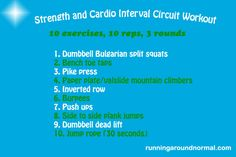 Strength & Cardio Interval Circuit Workout