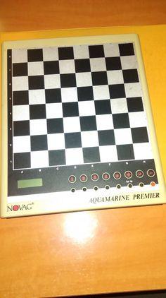 20,00€ · Ajedrez electrónico · Novag aquamarine Premier. 63 niveles. Apto para principiantes. A pesar de tener tiempo, no se ha usado casi. Funciona perfectamente. Mejor telf. o whatssapp · Aficiones y ocio > Juegos > Juegos de mesa