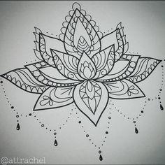 sternum tattoo lotus - Recherche Google