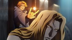 Alucard and Sypha.