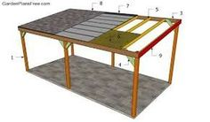 Image result for post and beam lean to
