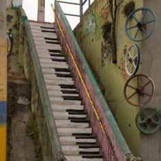 鋼琴設計階梯