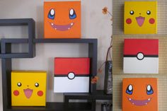 Choose 1 (Pokemon Inspired Painting) on Etsy, $15.00 - picachu or pokeball and one more