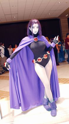 Character: Raven / From: DC Comics 'Teen Titans' / Cosplayer: SwimsuitSuccubus/ Event: Project: A-Kon 2016