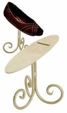 """1~NEW~SHOE DISPLAY STAND 6""""~IVORY~QUALITY METAL PROFESSIONAL~RETAIL~eBay"""