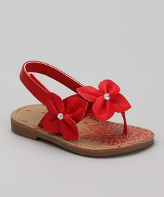 Take a look at this Red Akai Sandal - Infant & Toddler by Natural Steps on #zulily today!