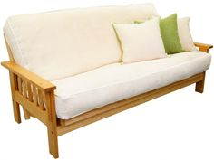 Chaise Lounge Sofa Wooden Frame Futon Sofa Bed