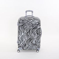(120.06$)  Watch here - http://aido4.worlditems.win/all/product.php?id=32790019032 - Wholesale!28 inch female pc hardside trolley luggage bag on universal wheels,fashion zebra printed travel luggage for women