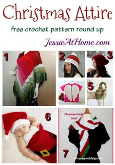 A round up of 7 free crochet patterns to help you dress for Christmas fun!