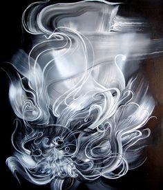 凤凰  phoenix 60x70cm 布面油画 Oil on Linen