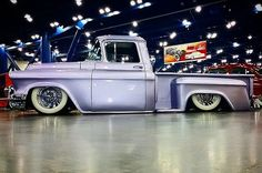 This truck had a Cadillac bumper and grill. I'll post a pic of the front end later in the week.  #houstonautorama2016 #houstonautorama #autorama  #kustom #chevrolet #truck #hamb #houstontx #htx #slammed #pickup #vintage #oldschool #hotrod  #airride #carshow #hotwheels #laidout #whitewalls #htown #classic  #airsuspension #texas #instadfw #igtexas #dfw  #vintage #dropped  #trucksoftexas #stepside #oldskool