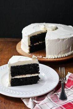 making changes & a recipe: chocolate cake with vanilla buttercream frosting - The Merry Gourmet