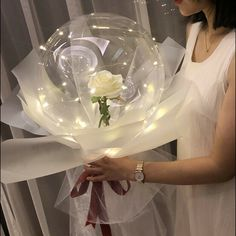 String Balloons, Bubble Balloons, Bubbles, White Roses Wedding, Red And White Roses, Rose Wedding, Christmas Gifts For Her, Gifts For Mum, Christmas Birthday