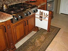 the sink versus stove area