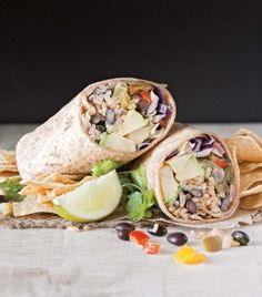 Chipotle and Lime Burrito (Vegan Burgers and Burritos)