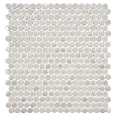 SomerTile 11.25x12-in Posh Penny Round Ash Porcelain Mosaic Tile (Pack of 10) | Overstock.com