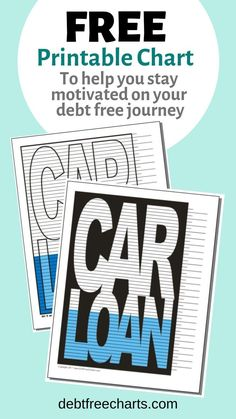 Pay off that car! This FREE chart can help by keeping you motivated with every line colored in. Yep, believe it or not, physically coloring in your progress each month can have a huge impact on your motivation levels. Paying Off Car Loan, What Is Credit Score, Tracker Free, Learning English For Kids, Planning Budget, Meal Planning, Paying Off Credit Cards, Mortgage Tips, Budget Binder