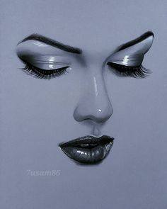 original_title] – Andrés Curiel Sánchez – Join in the world of pin Art Drawings Sketches Simple, Realistic Drawings, Pencil Art, Pencil Drawings, Girl Face Drawing, Drawing Art, Face Sketch, Chalk Pastels, Eye Art