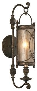 """Valais Collection Bronze 19 1/4"""" High Wall Sconce - traditional - wall sconces - by Lighting Luxury Style"""