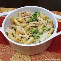 Recipe: Rigatoni with Broccoli & Chicken in a Garlic Olive Oil Sauce