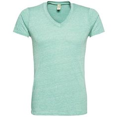 Mintgrünes T-Shirt mit V-Ausschnitt ab 44,90€ ♥ Hier kaufen: http://stylefru.it/s935981 #shirt #mint